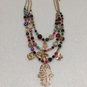 Om Necklace with Earrings Set BRAND NEW